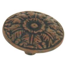 Hammered Medallion Knob Rust