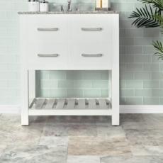 Hamptons Glass White Linen Concept