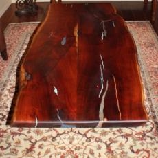 Mesquite coffee table with Turqouise Lapiz