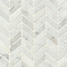 White Carrara Chevron Mosaic copy
