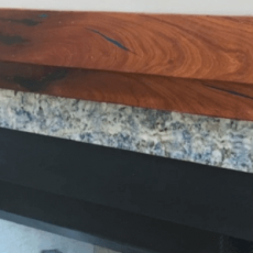 Two Step Lapis Inlay Mantel
